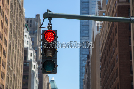 traffic light on the background of