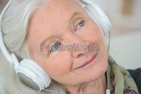 grandma listening to music