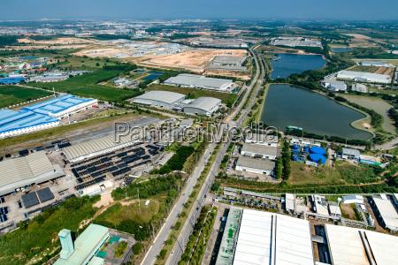 industrial estate land development water reservoir