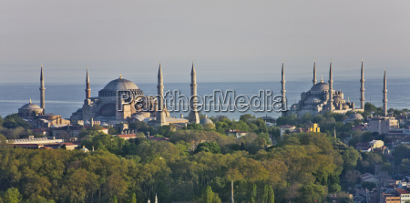 view to hagia sophia and blue