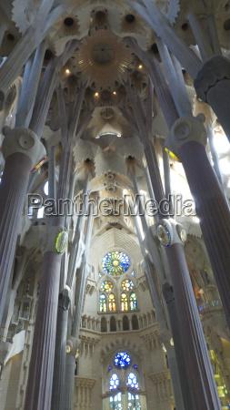 interior view of basilica sagrada familia