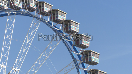 big ferries wheel at oktoberfest munich