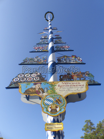 the maypole in the centre of