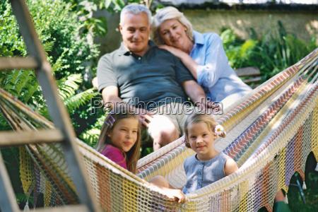 family portrait grandparents and two grandchildren