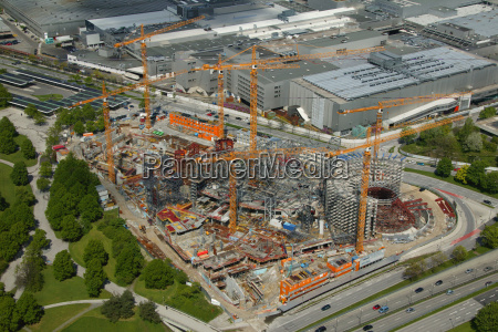 aerial view of a construction site