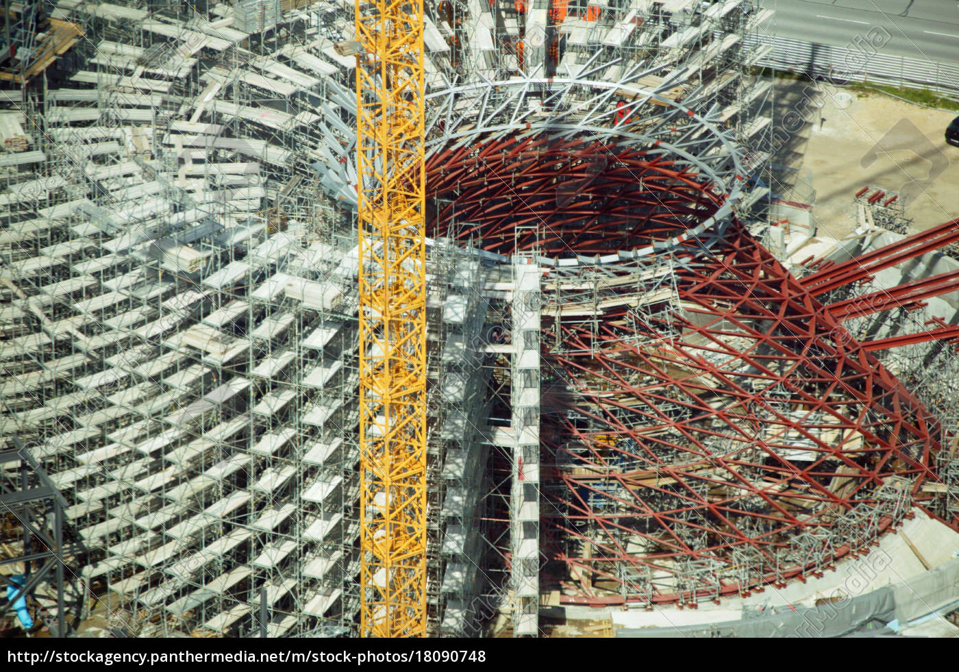 aerial, view, of, a, construction, site, - 18090748
