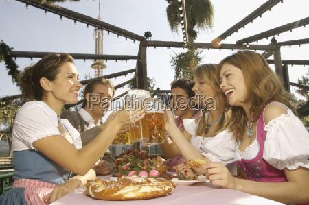people enjoying beer at festival in