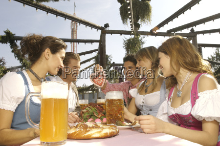 people enjoying beer at festival in