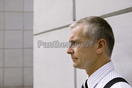 close up of middle aged businessman