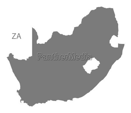 south africa map grey