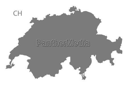 switzerland map grey