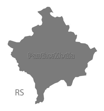 kosovo map grey