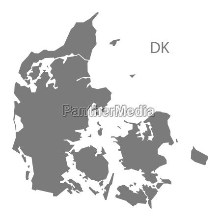 denmark map grey