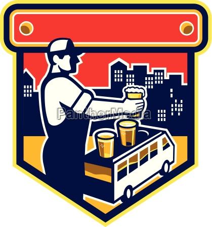 bartender beer city van crest retro