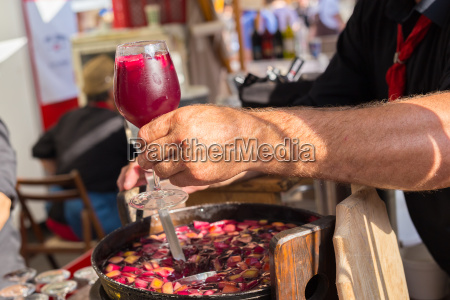 refreshing sangria served on food stall