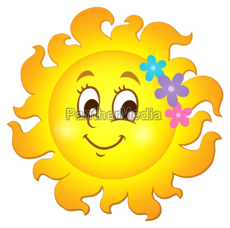 happy spring sun theme image 1