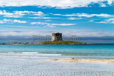 pelosa beach on sardinia italy