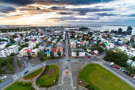 reykjavik shot from top of hallgrimskirkja