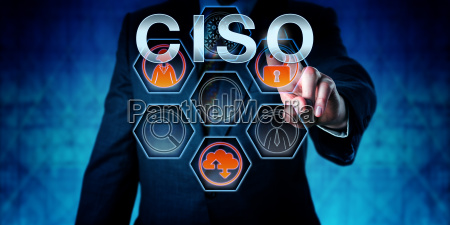 corporate executive touching ciso
