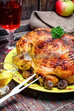 dish with roast duck