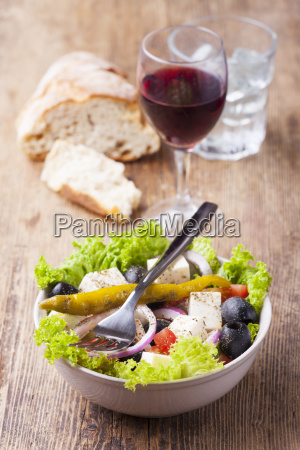 greek salad with olives
