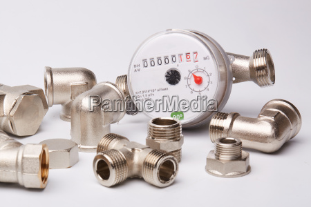 water meter on a white background