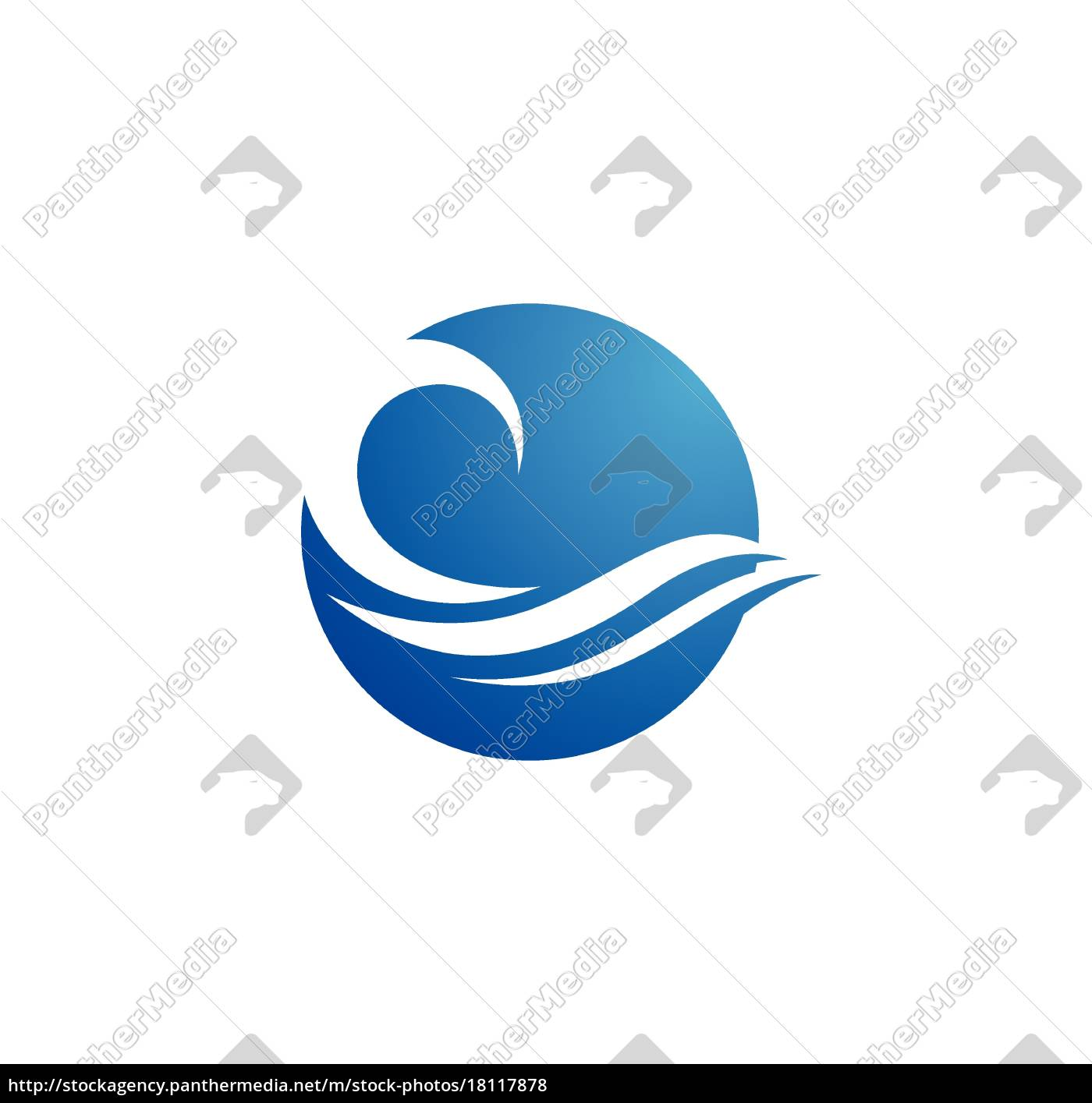 water, wave, logo, template - 18117878