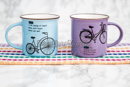 colorful modern ceramic mugs