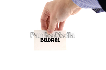 beware text concept