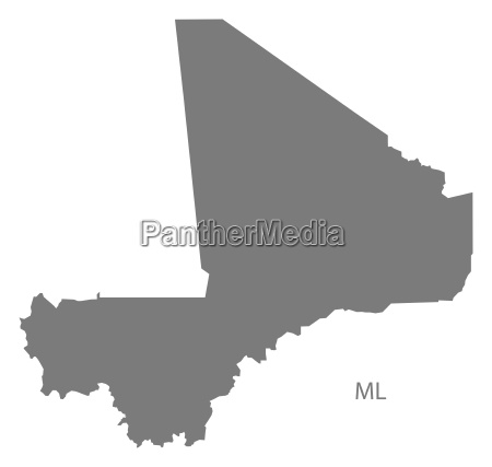 mali map grey