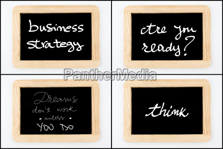 photo collage of wooden vintage chalkboard