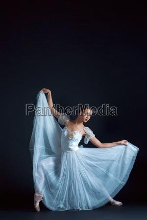 portrait of the classical ballerina in