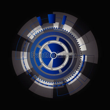 technology information gears abstract background