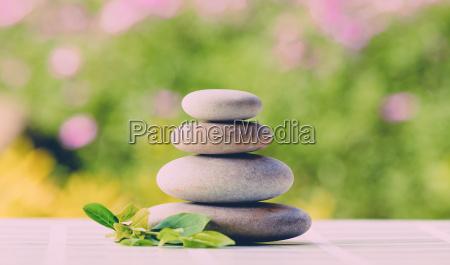 balancing pebble zen stones outdoor