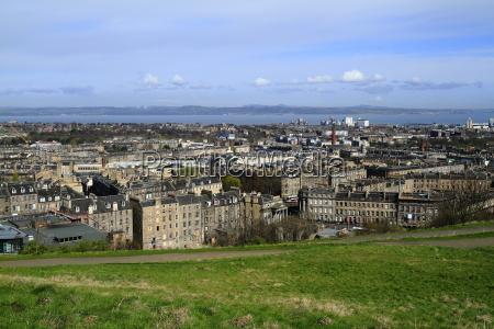 view over edinburgh scotland