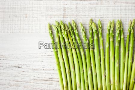 sprigs of asparagus on the