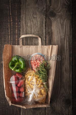 food mix inside a paper