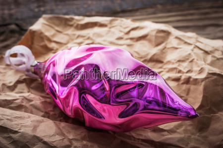 christmas tree decoration in the crumpled