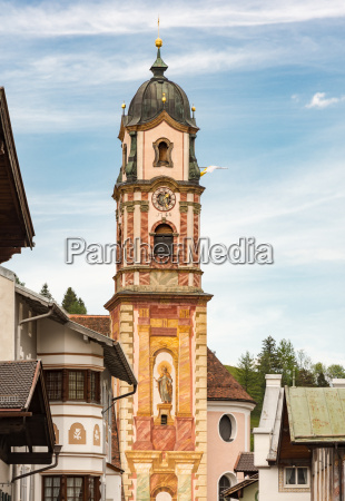 historic church in mittenwald