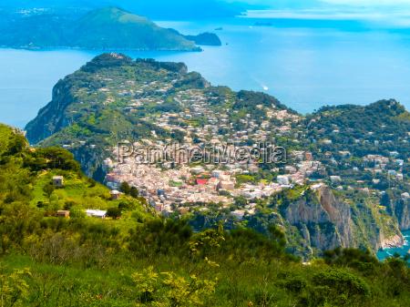 capri island in a beautiful summer
