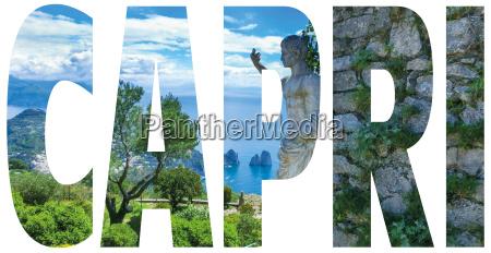 capri island name sign with