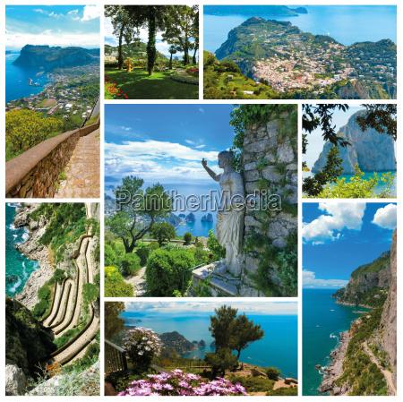 capri beautiful and famous island in
