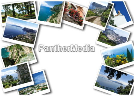 the collage from views of capri