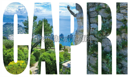 capri island name sign with