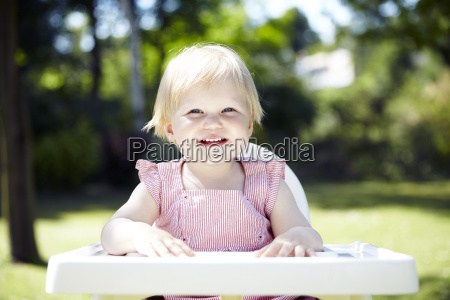 baby waiting for lunch in a