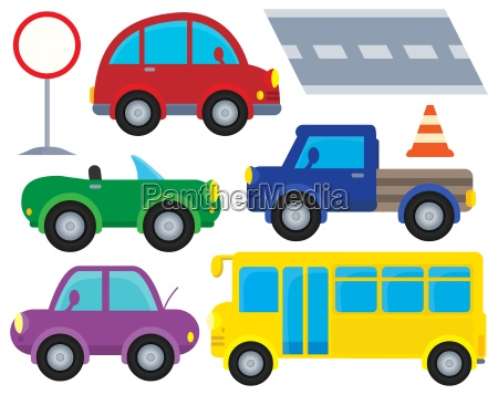 car and transportation theme set 1
