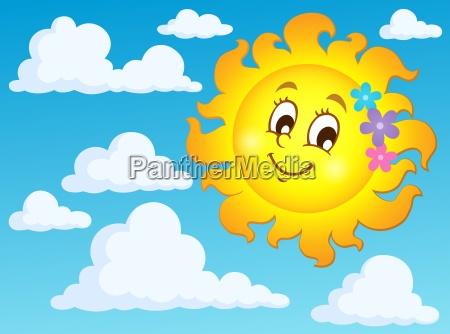 happy spring sun theme image 2