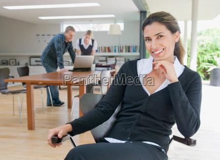 a portrait of a business woman
