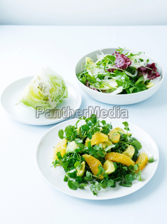 watercress avocado and orange salad iceberg