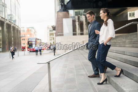 rear view of young businessman and